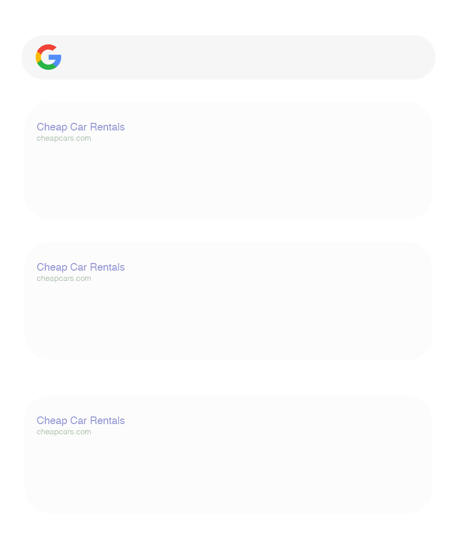 Google Searchbar and Website Results from Search