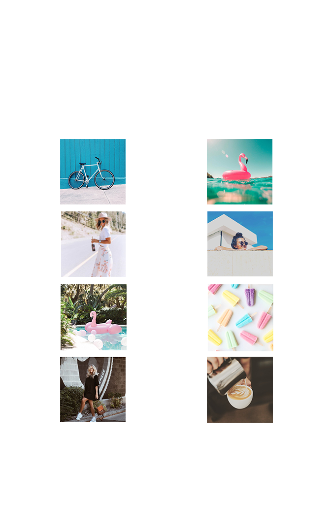 Social Media Post Image Squares for Instagram; highlighting our social media strategy services