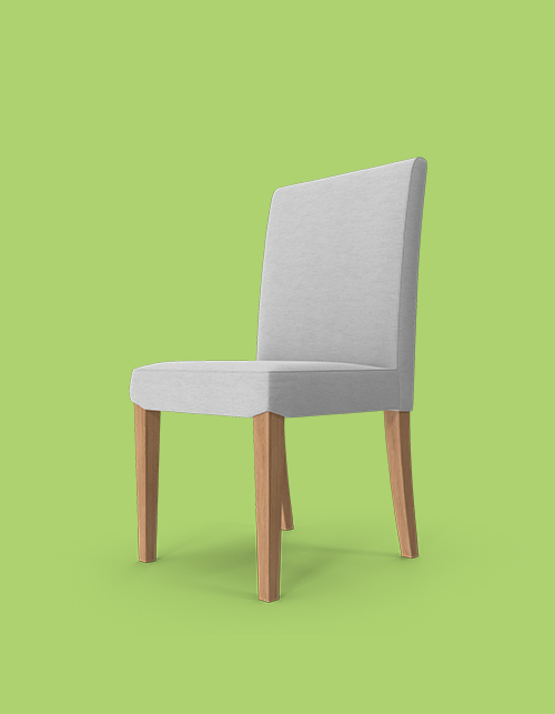 Grey chair on a green background, highlighting that great content turns chairs