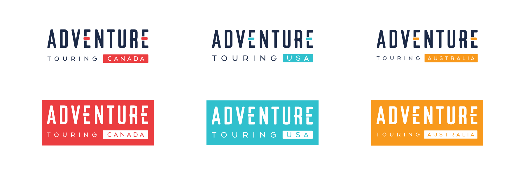 All three Adventure Touring Location Logos