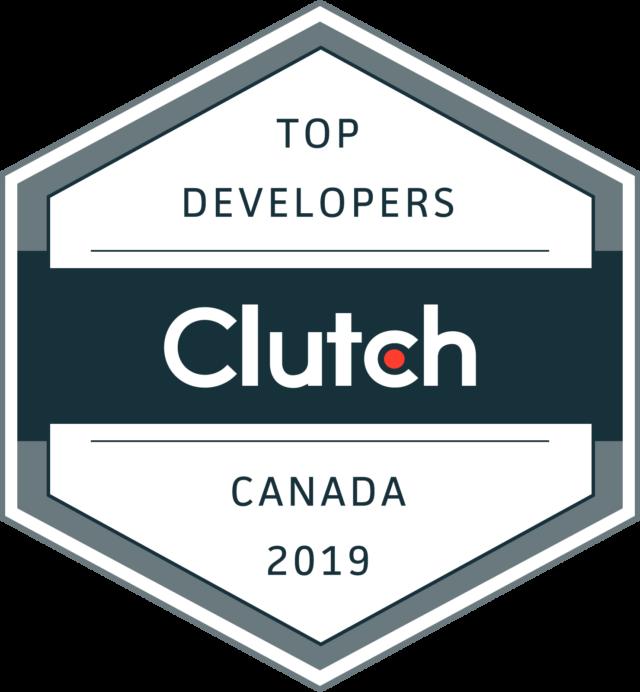 Top Developers Canada 2019 Clutch Leader Award.