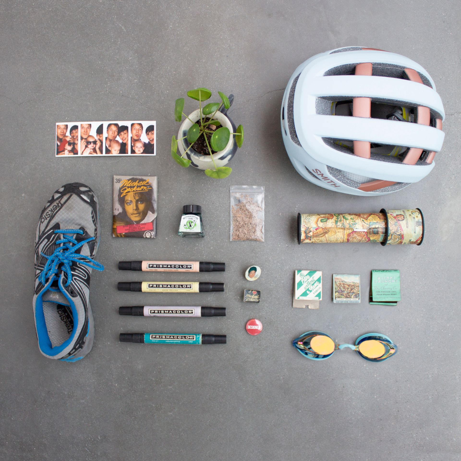 Nicole Redmond's flat lay of items representing her personality.