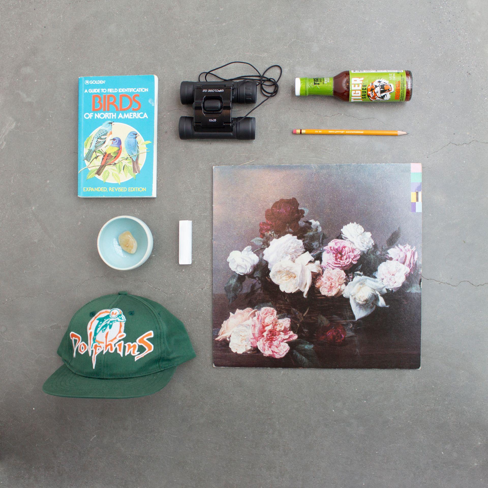 Ryan McGrew's flat lay of items representing his personality.