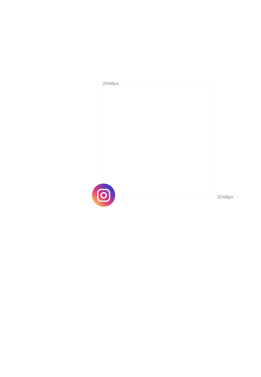 Instagram Icon with Pixel Size Labels