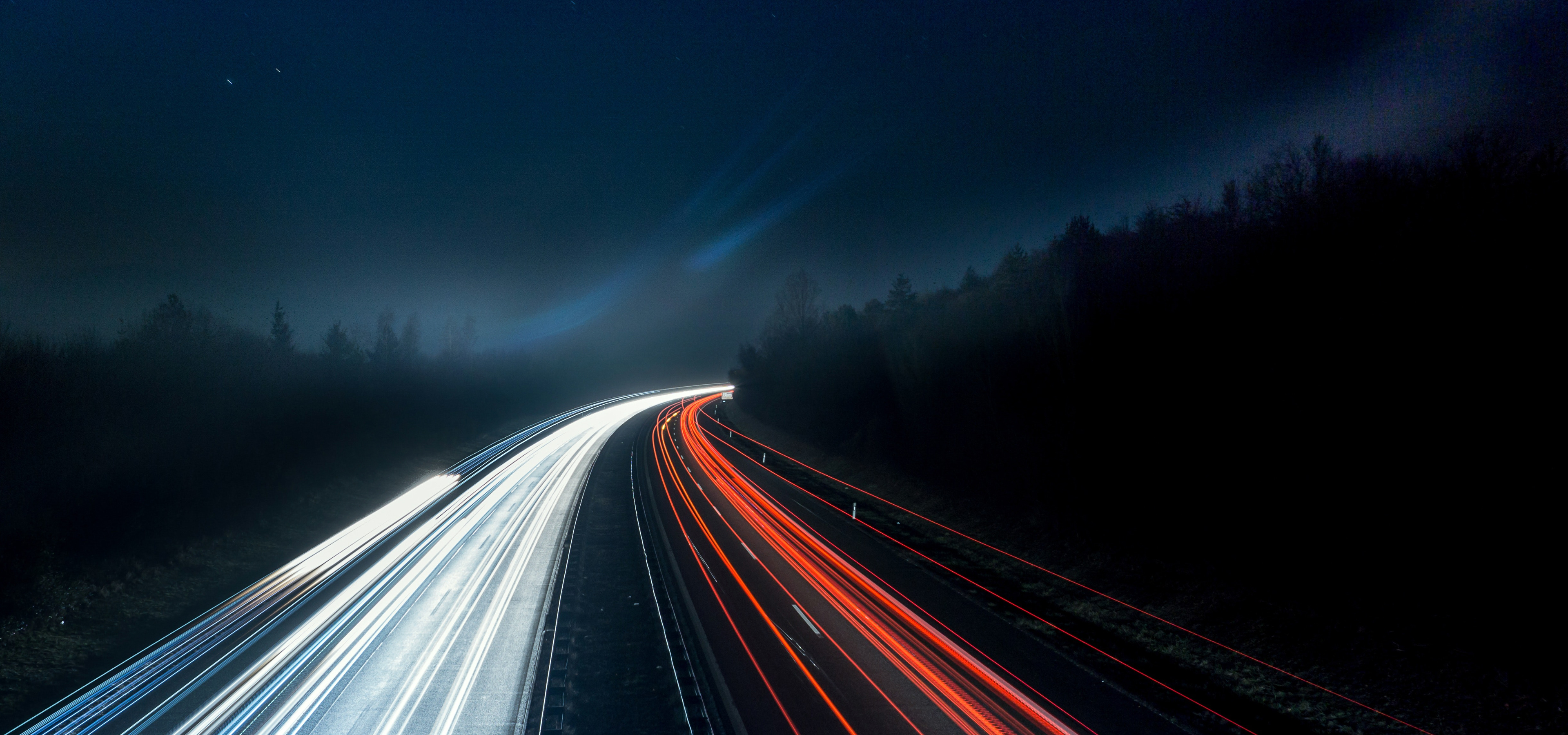 Picture of a road at night time promoting accelerated mobile pages