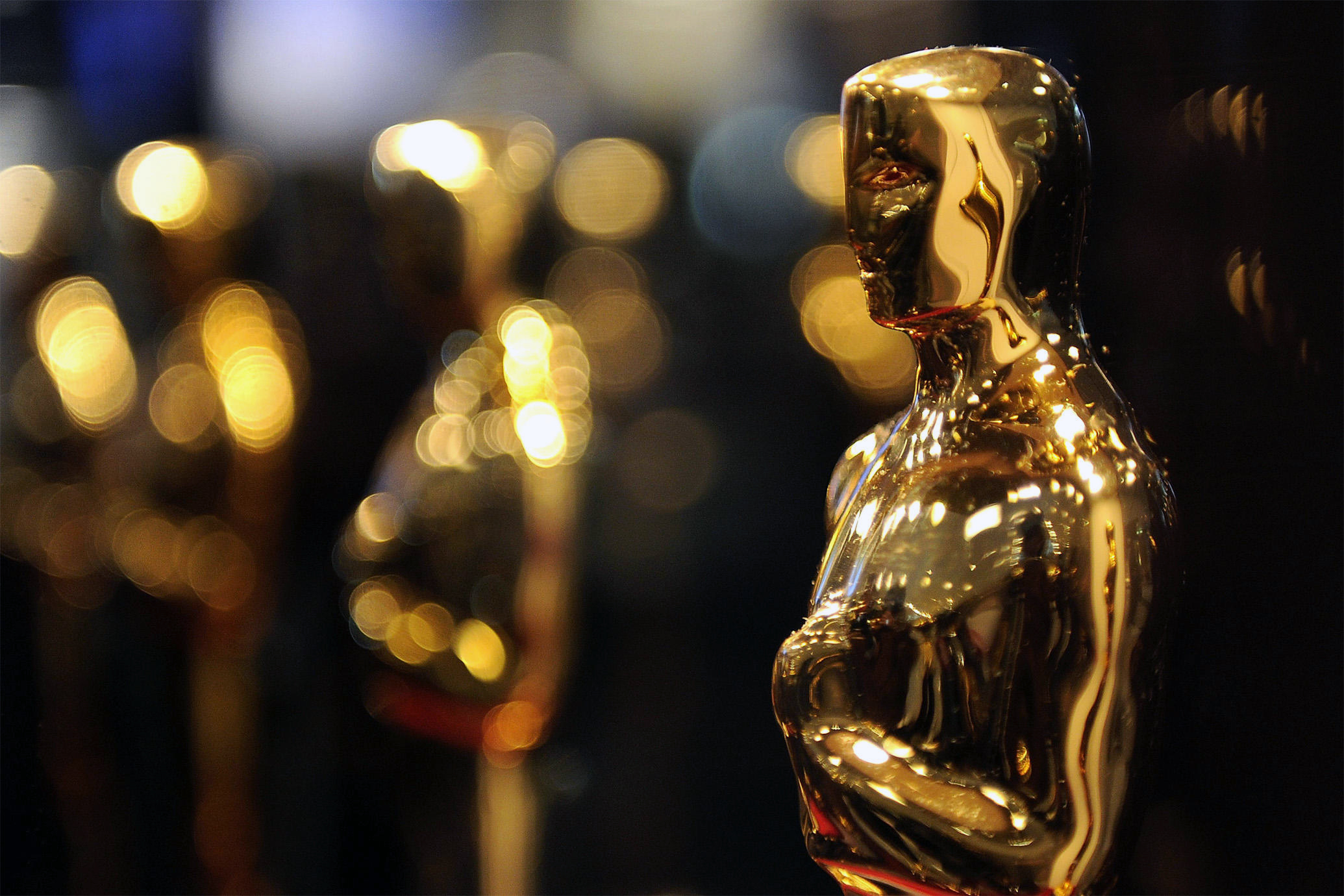 The Oscar for Best Digital Presence header, featuring a closeup of the golden oscar statue