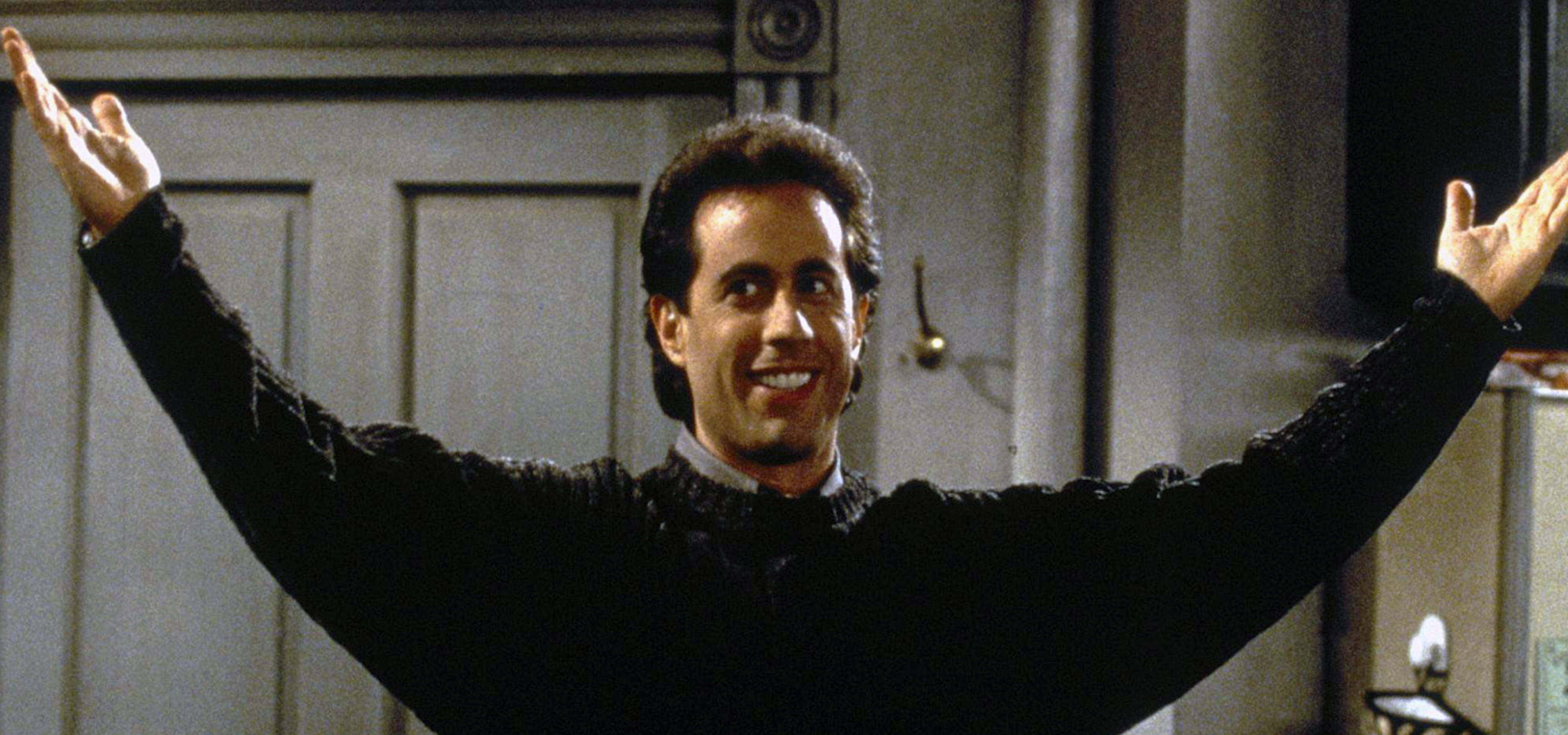 Photo of Seinfeld with open arms
