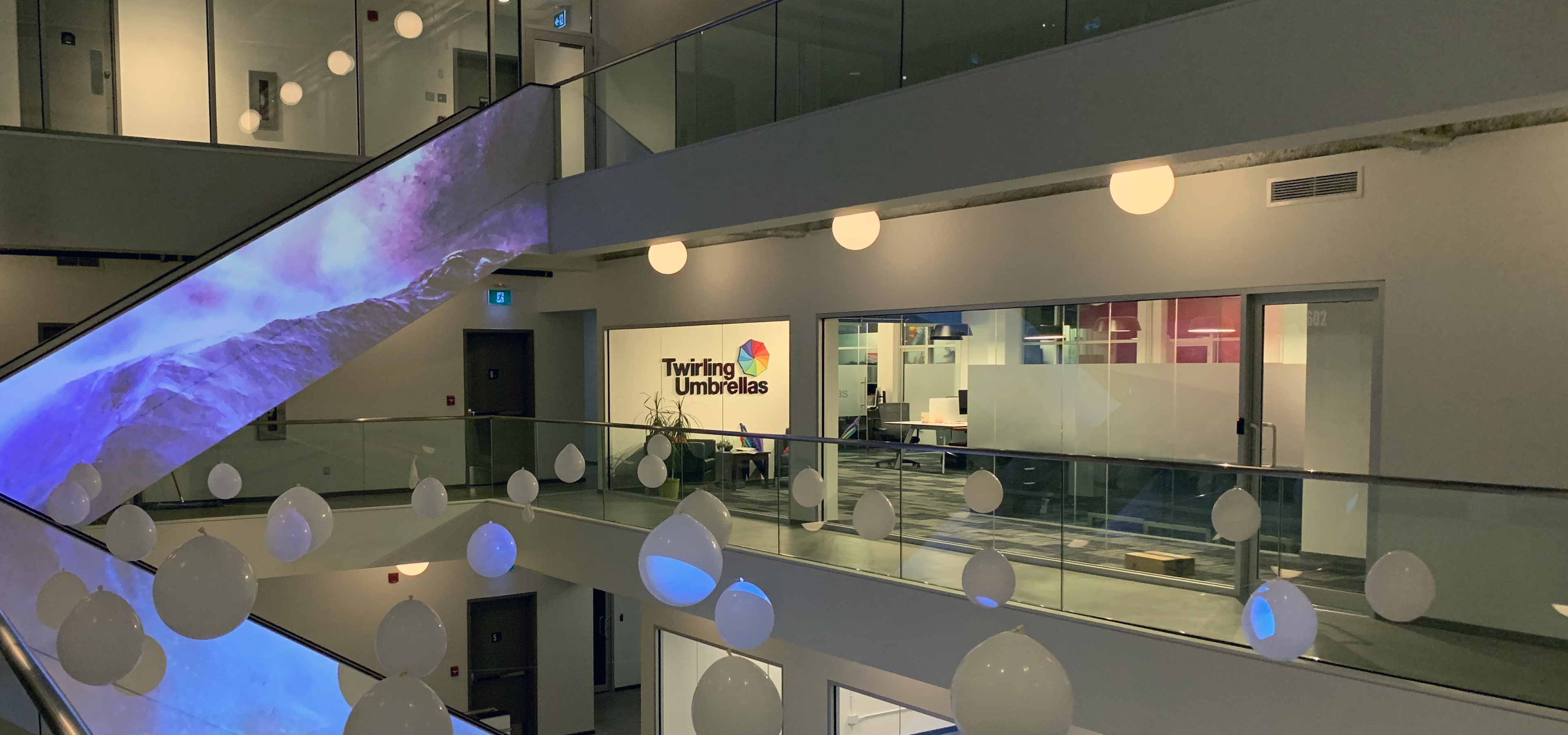 Picture of the Twirling Umbrellas Kelowna Office in the Innovation Centre, Named Leading Canadian Developer